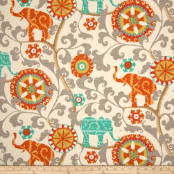 Waverly Sun N Shade Menagerie Cayenne Outdoor Fabric