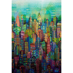 Digital Prints Skylines City Multi Fabric