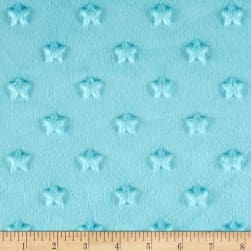 Telio Minky Star Dot Turquoise Fabric