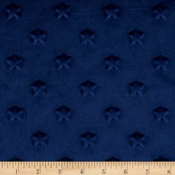 Telio Minky Star Dot Navy Fabric