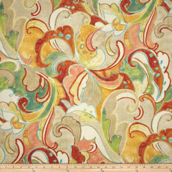 Swavelle/Mill Creek Indoor/Outdoor Leena Apricot Fabric