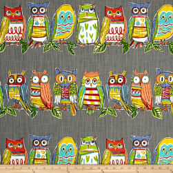 Richloom R Gallery Hoot Mercury Fabric