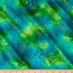 Laurel Burch Basic Glitter Metallic Green