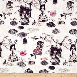 Art Gallery Wonderland Metallic Wonderlandia Confection Fabric