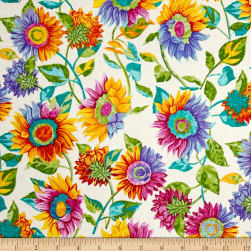 Marblehead Butterflies Are Free Sunflower Ecru Fabric