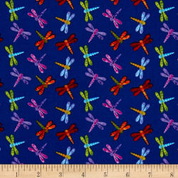 Marblehead Butterflies Are Free Dragonfly Blue Fabric