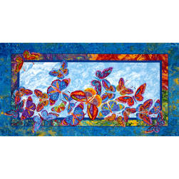 Marblehead Butterflies Are Free Panel Multi Fabric