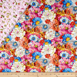 Fantasia Double Sided Quilted Floral Multi Fabric