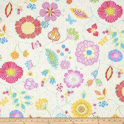 Happy Main Floral Ecru Fabric