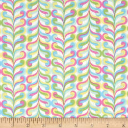 Happy Stripe Ecru Fabric