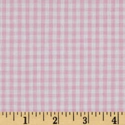 Wide Width 1/8 Gingham Check Pink Fabric