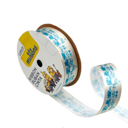 "7/8"" Minions Ribbon 2D Grey"