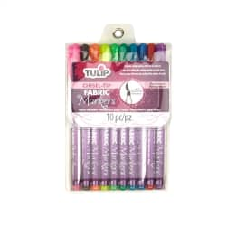 Tulip Fabric Markers Chisel Tip 10 Pack