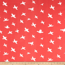 Premier Prints Indoor/Outdoor Bird Silhouette Indian Coral Fabric