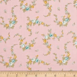 Little House On The Prairie Laurel Pink Fabric