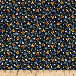 Little House On The Prairie Daisy Stem Blue