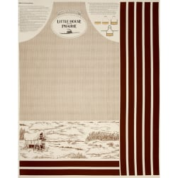 Little House On The Prairie Apron 36'' Panel