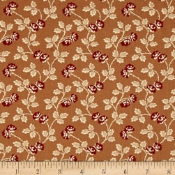 Little House On The Prairie Floral Vine Brown