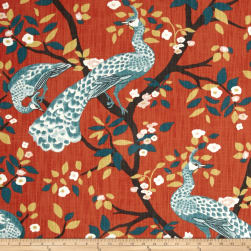 Dwell Studio Plume Redux Persimmon Fabric