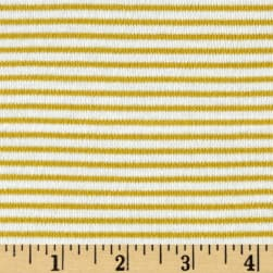 Cloud 9 Organics Stripe Interlock Knit Citron Fabric