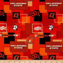 Collegiate Cotton Broadcloth Oklahoma State University Block