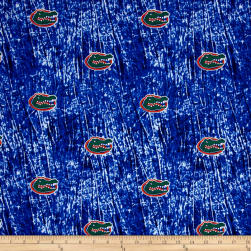 Collegiate Cotton Broadcloth University of Florida Tie Dye Print Navy Fabric