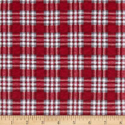 Fabric Merchants Cotton Jersey Knit Christmas Plaid Fabric