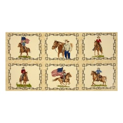 Moda Sundance Trail Cowboy 24 In. Panel Natural