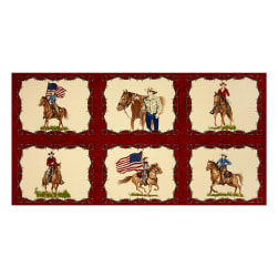 Moda Sundance Trail Cowboy 24 In. Panel Red Fabric