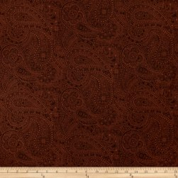 "108"" Wide Quilt Back Chelsea Dot Paisley Brown"
