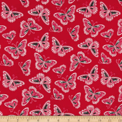 Rendezvous Tossed Butterflies Red