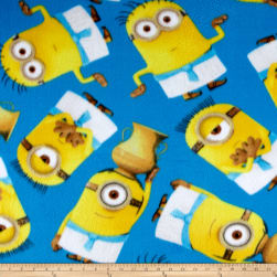 QT Fabrics Despicable Me Fleece Egyptian Minions Blue