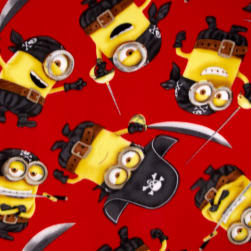 Despicable Me Fleece Pirate Minions Red Fabric