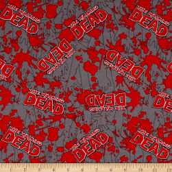 The Walking Dead Flannel Blood Splatter Red Fabric