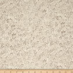 Jurassic Jungle Dino Tracks Gray Fabric