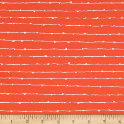 Kaufman Blueberry Park Loop Stripe Nectarine Fabric