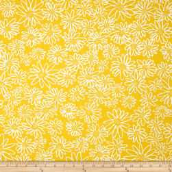 Kaufman Blueberry Park Flower Canary Fabric
