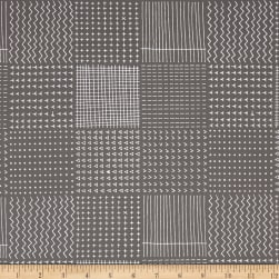 Kaufman Blueberry Park Geo Plaid Pewter Fabric