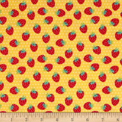Penny Rose Shabby Strawberry Berries Yellow