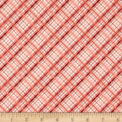 Riley Blake Offshore Plaid Red Fabric