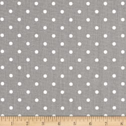 Premier Prints Mini Dots Storm/White