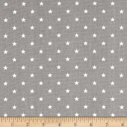 Premier Prints Mini Stars Storm/White Fabric