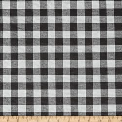 Premier Prints Plaid Black Fabric
