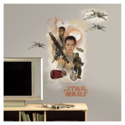 Star Wars Ep VII Hero Burst Giant Wall Decal