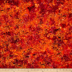 Jinny Beyer Malam Batiks III Blossom Orange Fabric