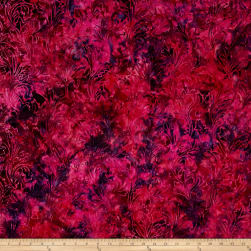 Jinny Beyer Malam Batiks III Leaf Scroll Magenta