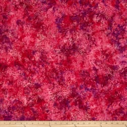 Jinny Beyer Malam Batiks III Burst Raspberry Fabric