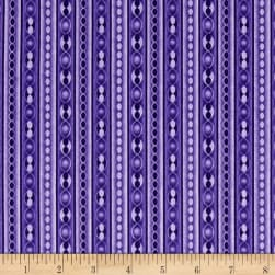 Transformation Stripe Grape Fabric
