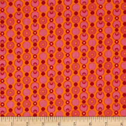 Transformation Simply Circles Orange/Pink Fabric