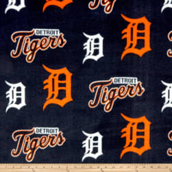 MLB Fleece Detroit Tigers Orange/Navy